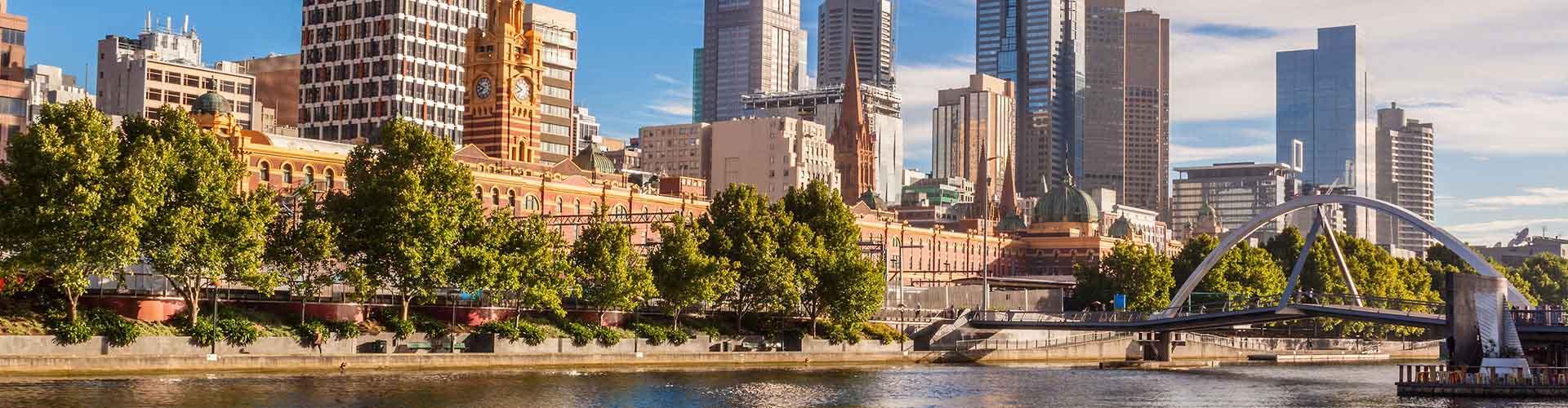 Melbourne - Hostels no Melbourne bairro. Mapas para Melbourne, Fotos e Avaliações para cada Hostel em Melbourne.