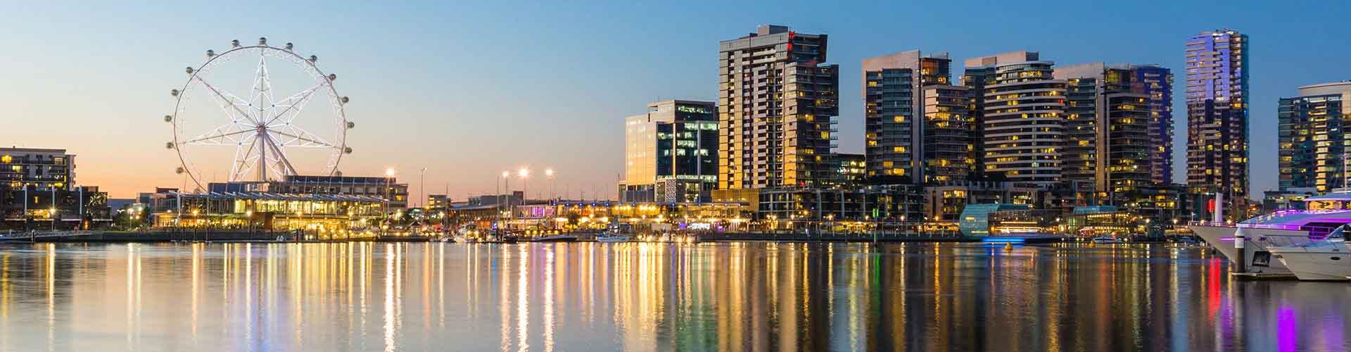 Melbourne - Hotéis no Docklands bairro. Mapas para Melbourne, Fotos e Avaliações para cada Albergue em Melbourne.