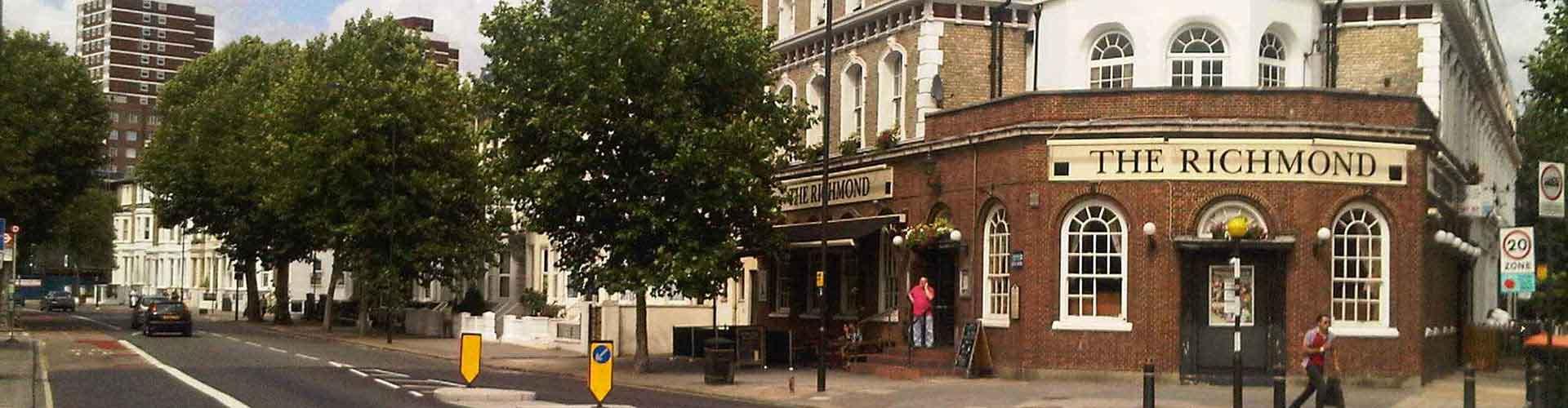 Londres – Hostels no bairro de Bairro de Hammersmith e Fulham . Mapas para Londres, Fotos e Avaliações para cada Hostel em Londres.