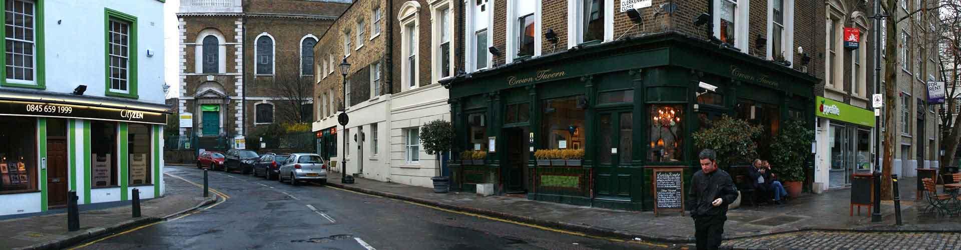 Londres – Hostels no bairro de Clerkenwell . Mapas para Londres, Fotos e Avaliações para cada Hostel em Londres.