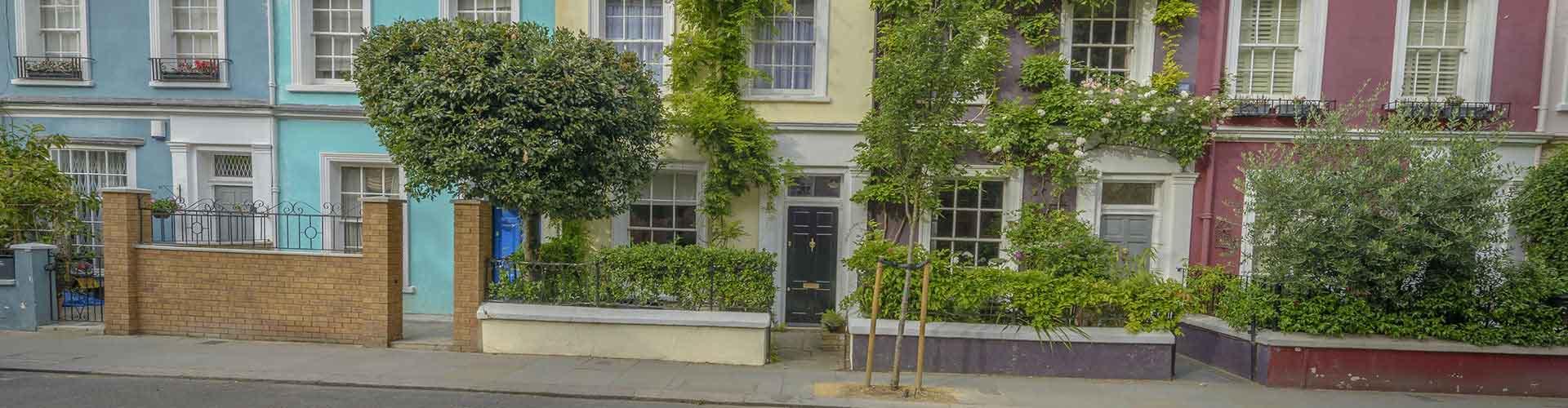 Londres – Hostels no bairro de Notting colina . Mapas para Londres, Fotos e Avaliações para cada Hostel em Londres.