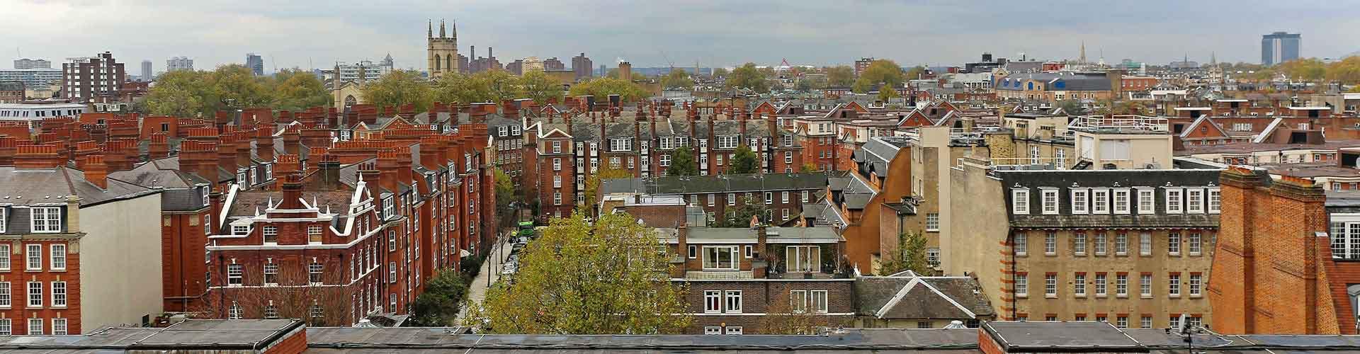 Londres – Hostels no bairro de Sul de Kensington . Mapas para Londres, Fotos e Avaliações para cada Hostel em Londres.