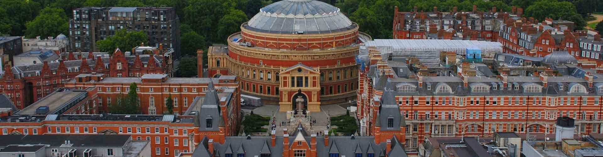 Londres – Hostels próximos a Royal Albert Hall. Mapas para Londres, Fotos e Avaliações para cada Hostel em Londres.