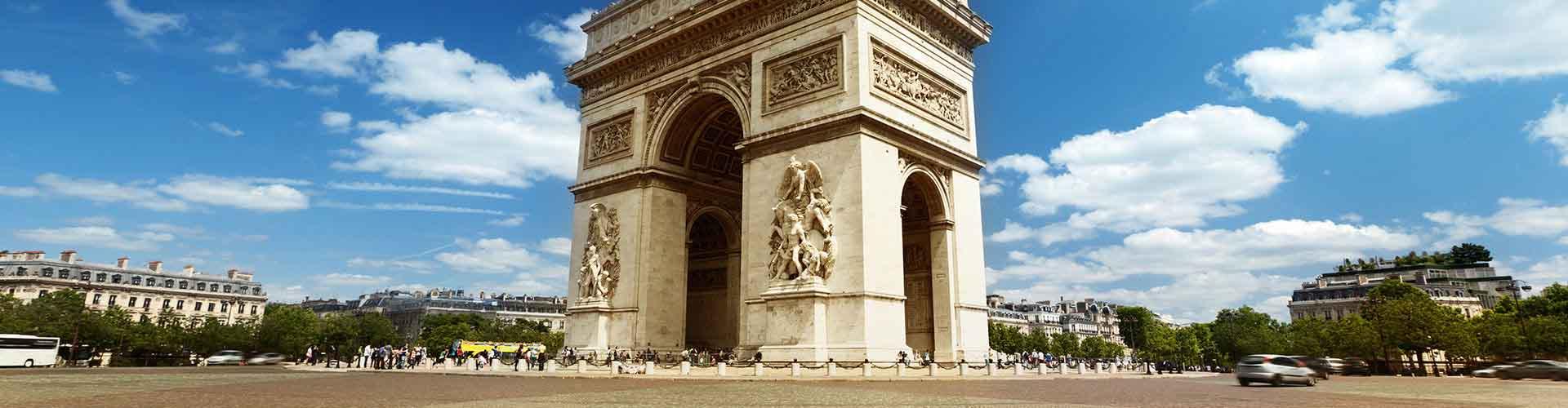 Paris – Hostels próximos a Arc de Triomphe. Mapas para Paris, Fotos e Avaliações para cada Hostel em Paris.