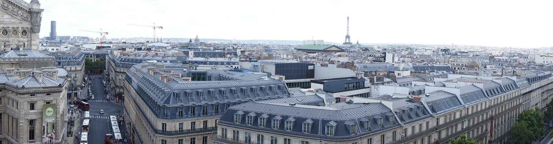 Paris – Hostels próximos a Galeries Lafayette. Mapas para Paris, Fotos e Avaliações para cada Hostel em Paris.