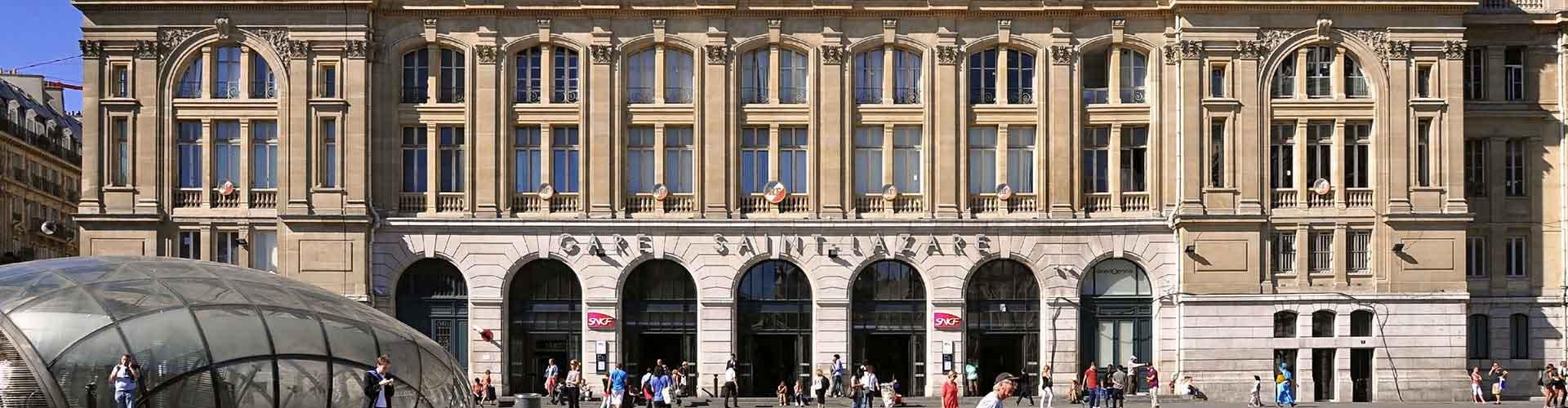 Paris – Hostels próximos a Gare Saint-Lazare. Mapas para Paris, Fotos e Avaliações para cada Hostel em Paris.