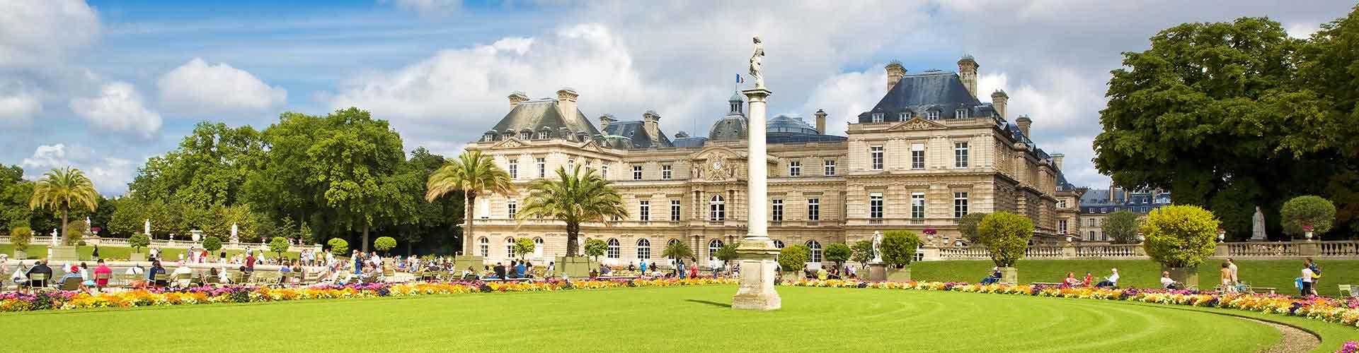 Paris – Hostels próximos a Jardin du Luxembourg. Mapas para Paris, Fotos e Avaliações para cada Hostel em Paris.