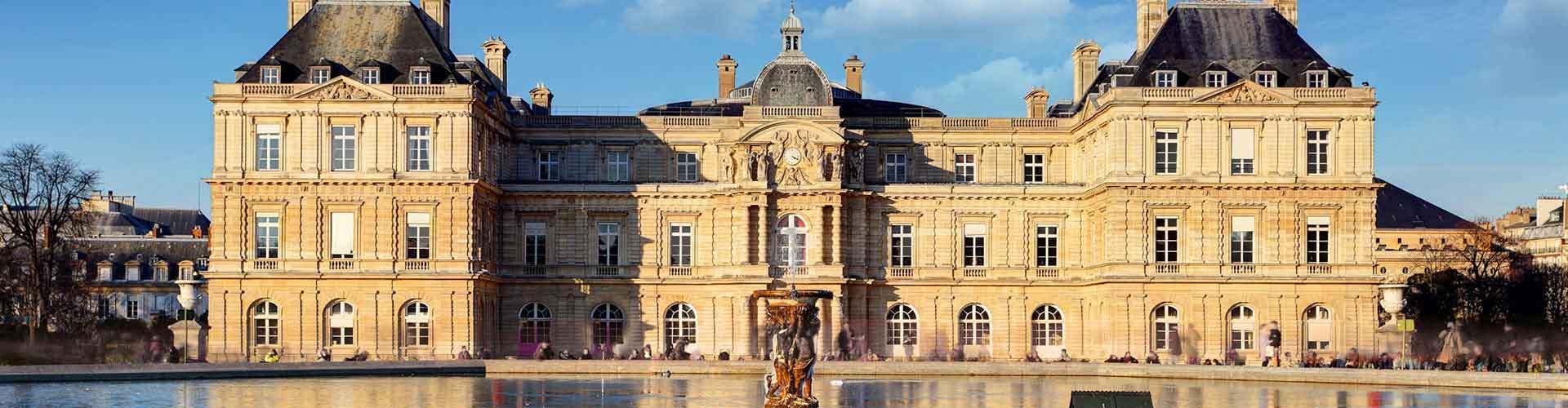 Paris – Hostels próximos a Palais du Luxembourg. Mapas para Paris, Fotos e Avaliações para cada Hostel em Paris.