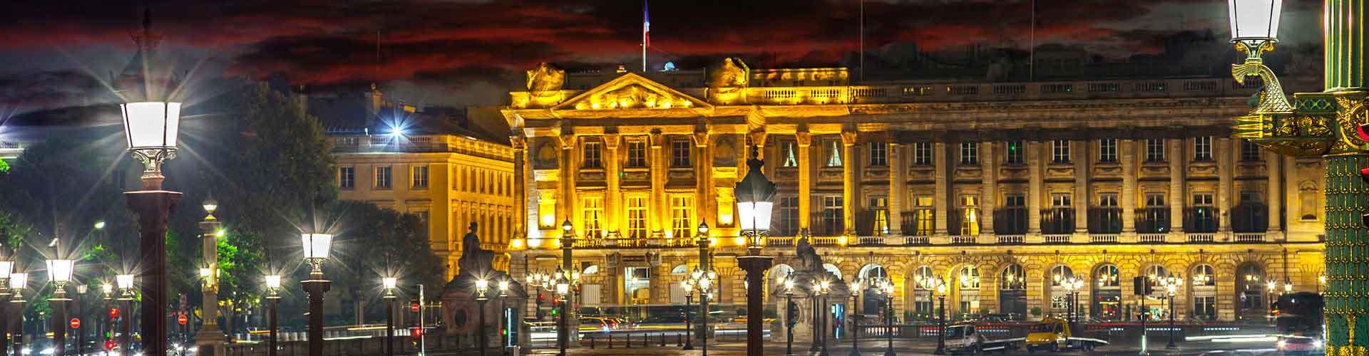 Paris – Hostels próximos a Place de la Concorde. Mapas para Paris, Fotos e Avaliações para cada Hostel em Paris.