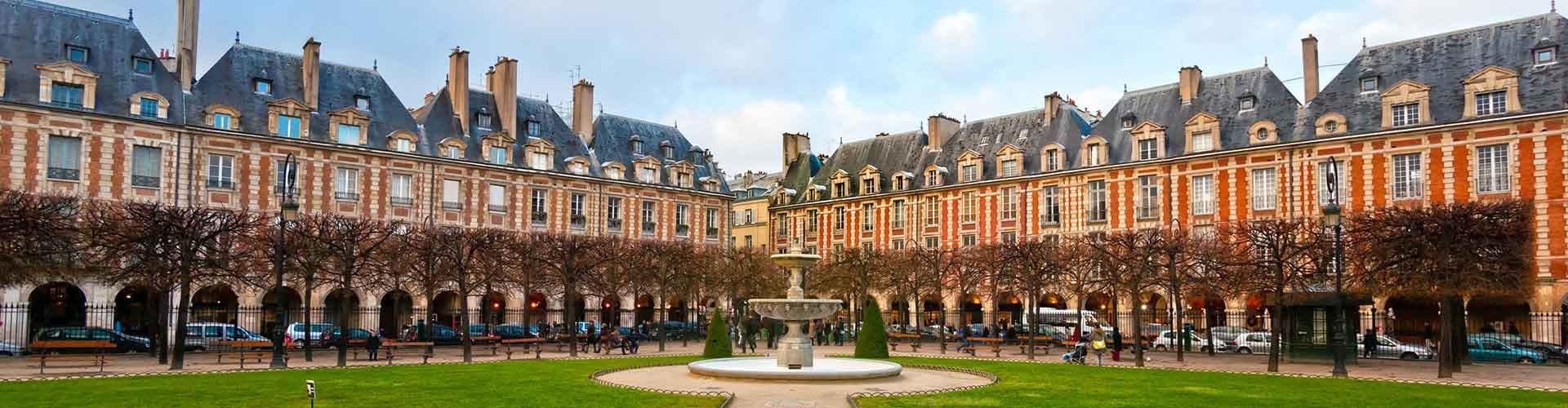 Paris – Hostels próximos a Place des Vosges. Mapas para Paris, Fotos e Avaliações para cada Hostel em Paris.