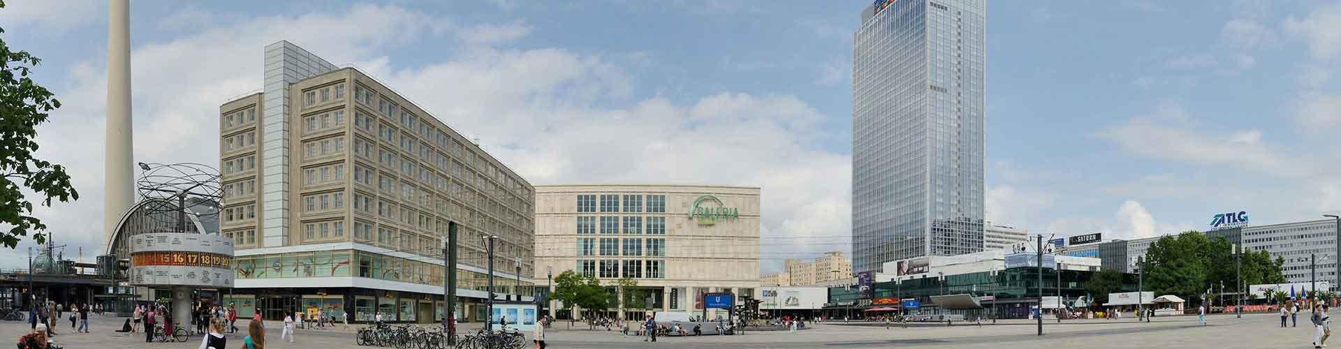 Berlim – Hostels próximos a Alexanderplatz. Mapas para Berlim, Fotos e Avaliações para cada Hostel em Berlim.