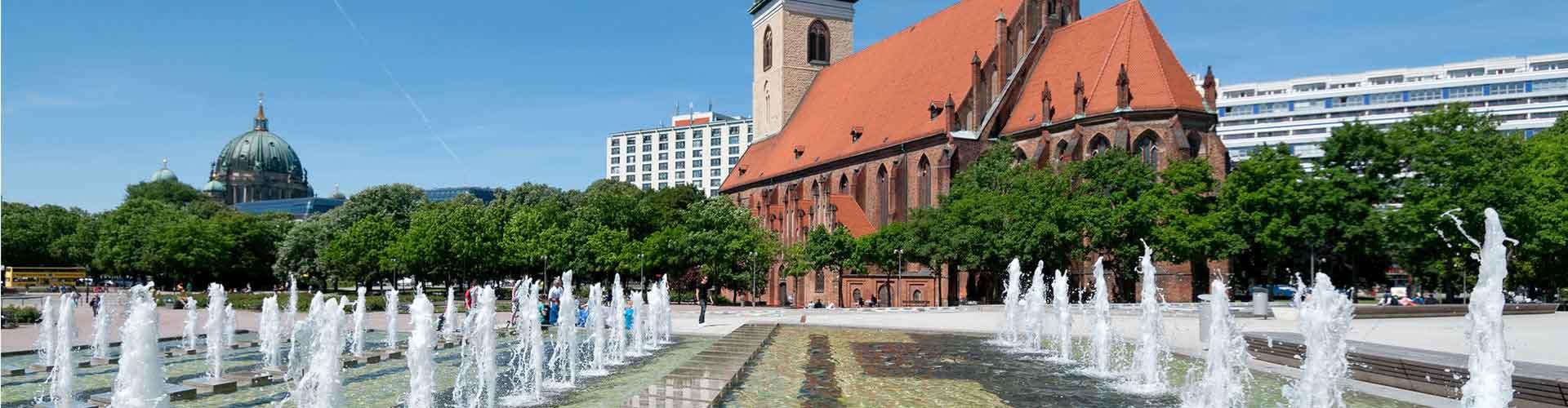 Berlim – Hostels próximos a Marienkirche. Mapas para Berlim, Fotos e Avaliações para cada Hostel em Berlim.