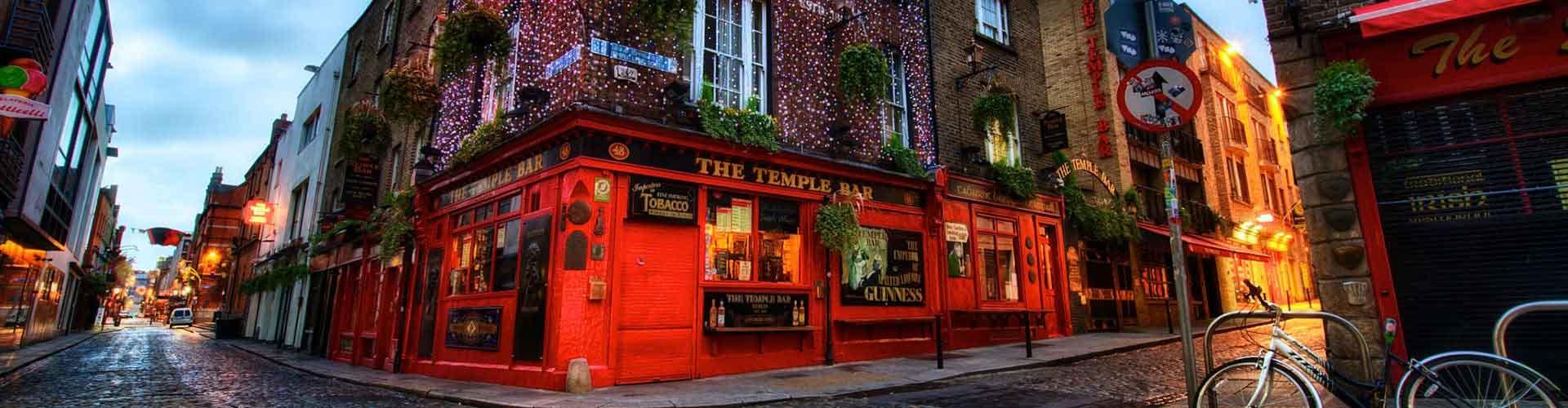 Dublin – Hostels no bairro de Temple Bar . Mapas para Dublin, Fotos e Avaliações para cada Hostel em Dublin.