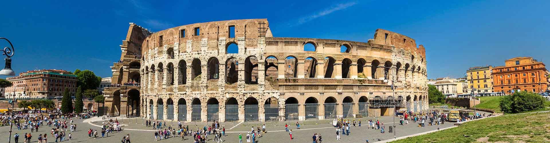 Roma – Hostels próximos a Coliseu. Mapas para Roma, Fotos e Avaliações para cada Hostel em Roma.