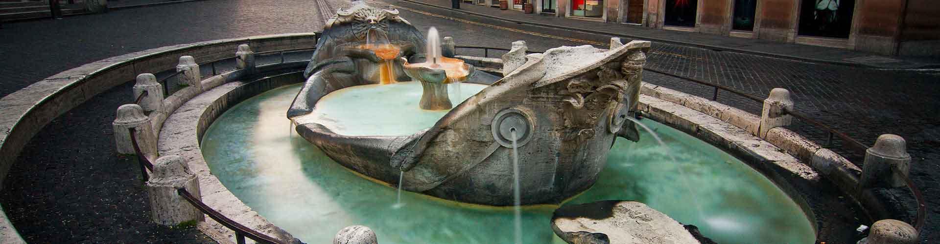 Roma – Hostels próximos a Fontana della Barcaccia. Mapas para Roma, Fotos e Avaliações para cada Hostel em Roma.