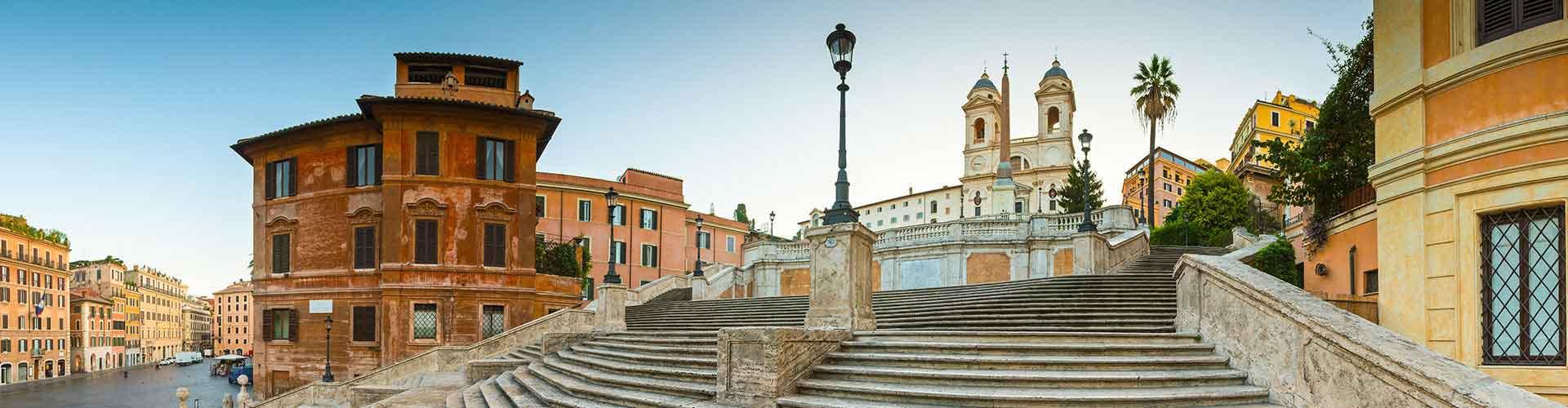 Roma – Hostels próximos a Escadaria de Espanha. Mapas para Roma, Fotos e Avaliações para cada Hostel em Roma.
