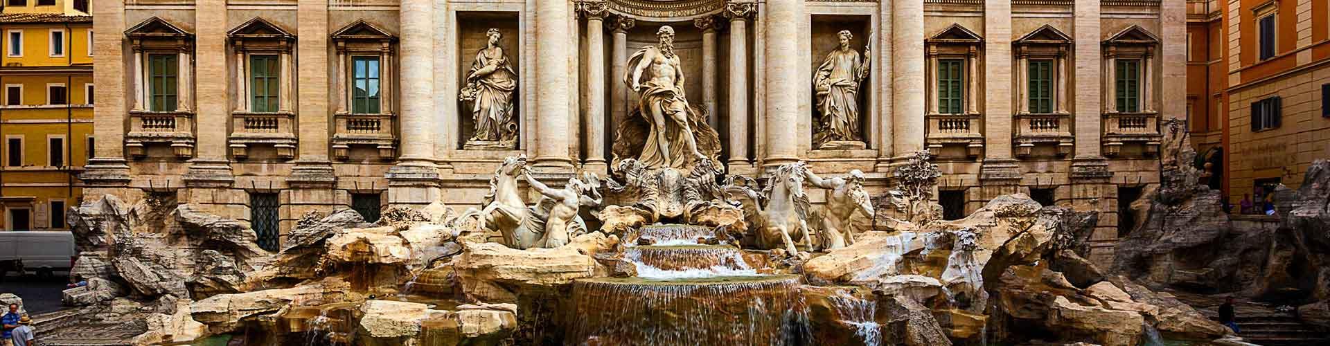 Roma – Hostels próximos a Fonte de Trevi. Mapas para Roma, Fotos e Avaliações para cada Hostel em Roma.