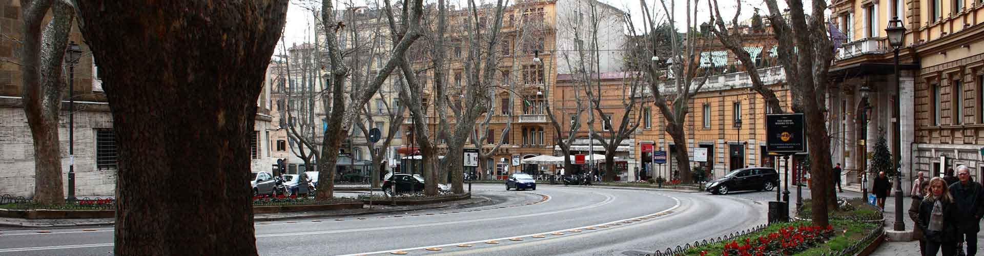 Roma – Hostels próximos a Via Veneto. Mapas para Roma, Fotos e Avaliações para cada Hostel em Roma.