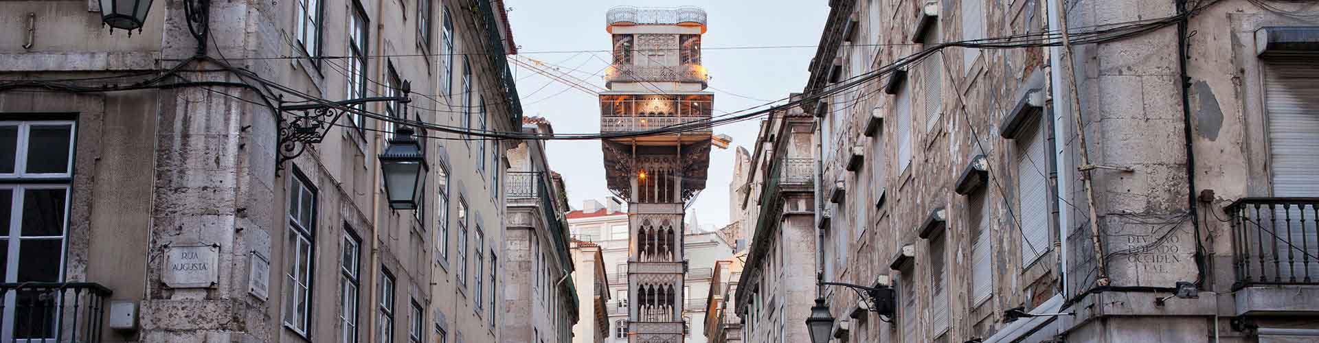 Lisboa – Hostels próximos a Elevador de Santa Justa. Mapas para Lisboa, Fotos e Avaliações para cada Hostel em Lisboa.