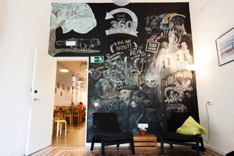 360 Hostel Arts&Culture; Área Comunitária