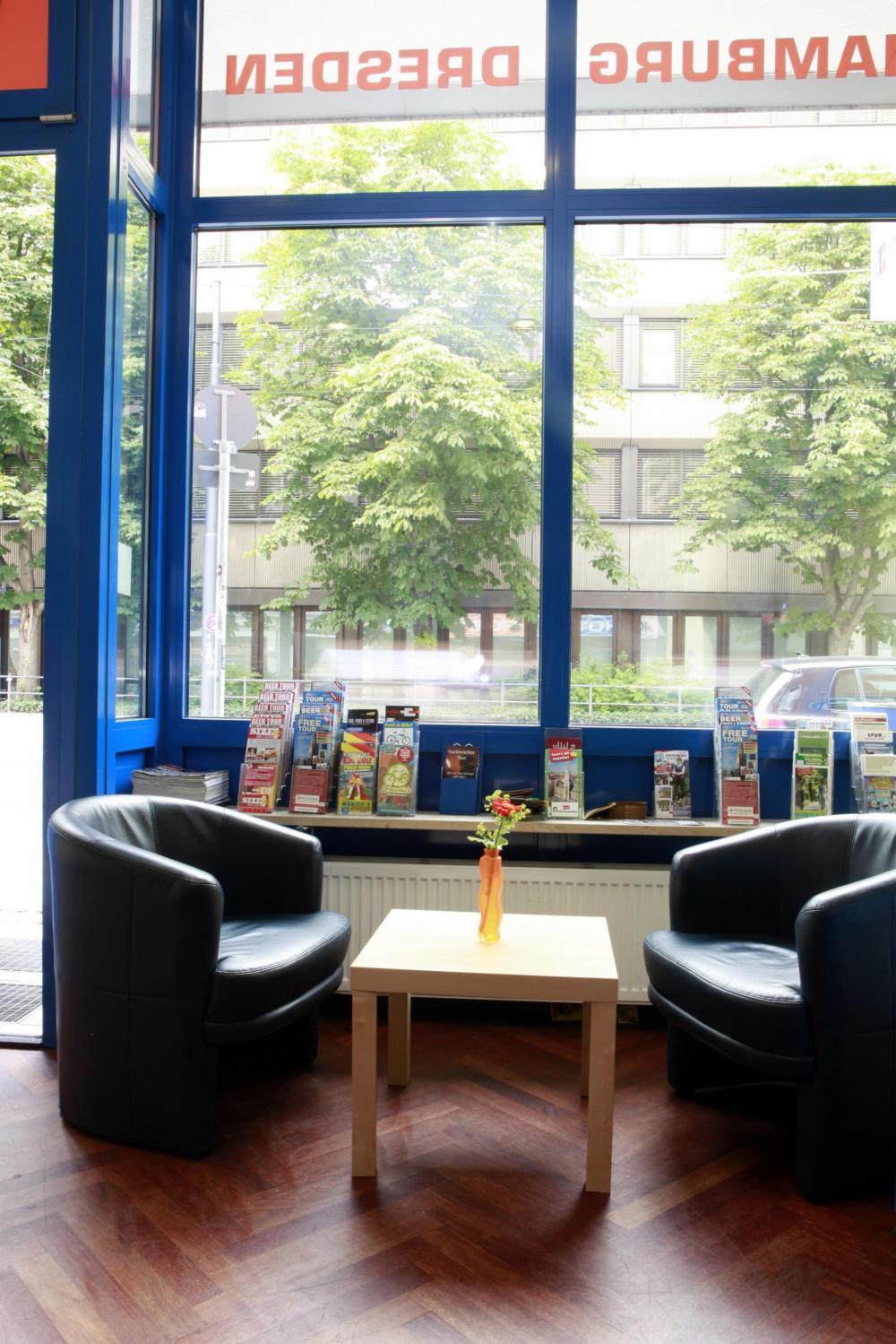 Lobby no A&O München Hauptbahnhof Hostel