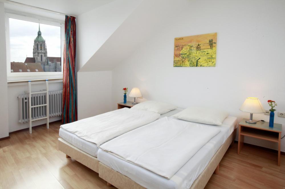 Quarto duplo no A&O München HB Hostel