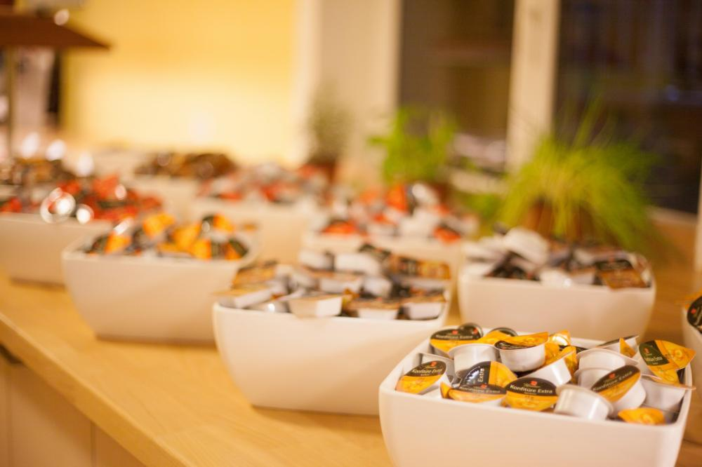 Buffet de café-da-manhã no A&O Wien HB Hostel