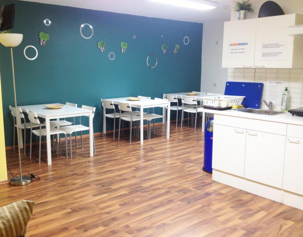 Cozinha de Hóspedes no A&O Wien HB Hostel