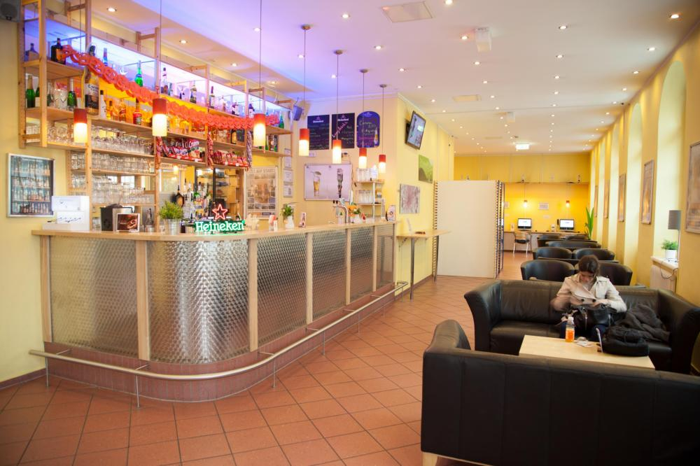 Lobby do A&O Wien Stadthalle Hostel