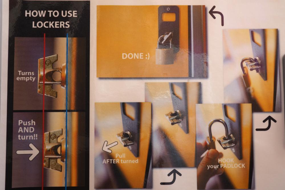 Armário como usar, folha de instruções