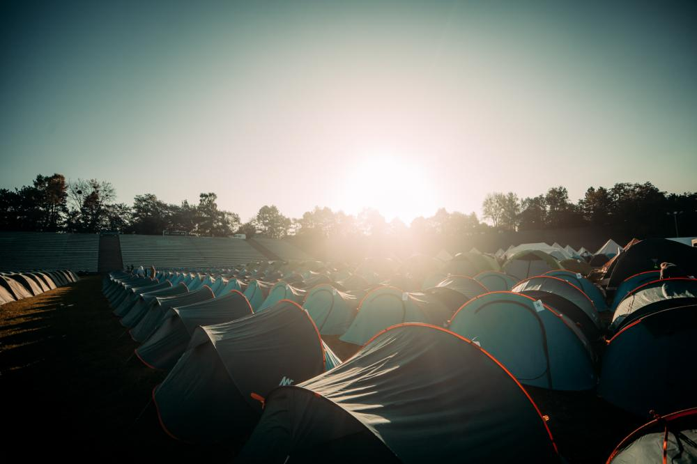 A vista da coleção de tendas