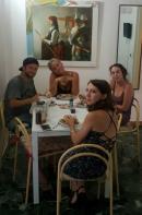 Jantando com hóspedes